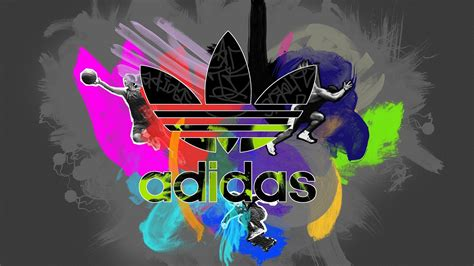 colorful addidas colorful adidas logo high definition wallpapers hd