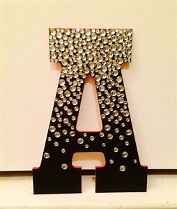 Jeweled wooden letter jewel etsy and crafts for Greek wooden block letters
