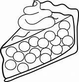 Coloring Cream Whipped Topping Piece Template Trinken Essen Pies Pie Malvorlagen Cherry Clipart sketch template