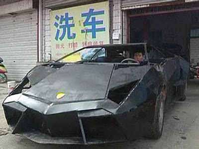 man  rural china built  lamborghini knock