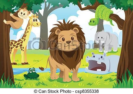 animal kingdom preschoolers free jungle animal clip vector illustration of 51683