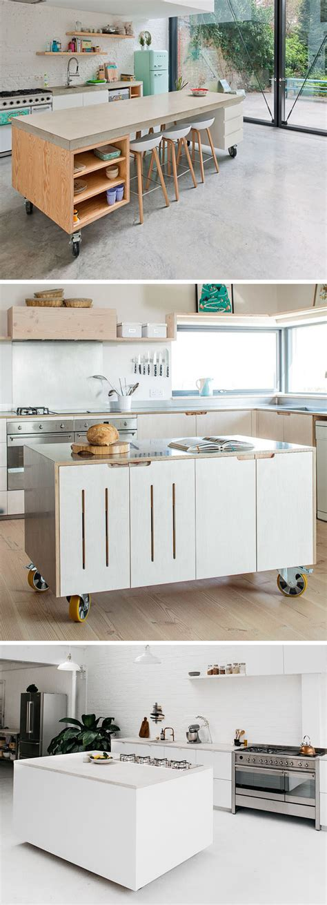 kitchen movable islands 8 exles of kitchens with movable islands that make it easy to change the layout contemporist