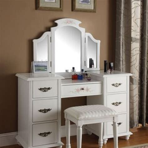 makeup vanity set walmart vanity table walmart shelby