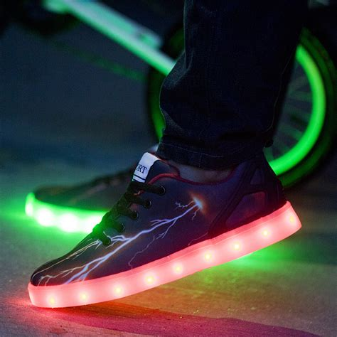 led light up shoes in stores new type 2015 7 colors led luminous shoes for men usb