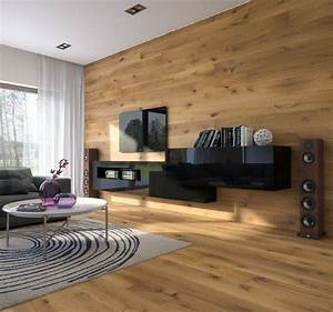 Wohnzimmer Wand Holz : wandgestaltung im wohnzimmer 85 ideen und beispiele ~ Lizthompson.info Haus und Dekorationen