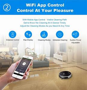 Liectroux C30b Robot Vacuum Cleaner  Map Navigation With Memory Wifi App Control 3000pa Suction