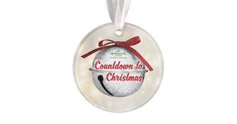 countdown to christmas red bell ornament zazzle