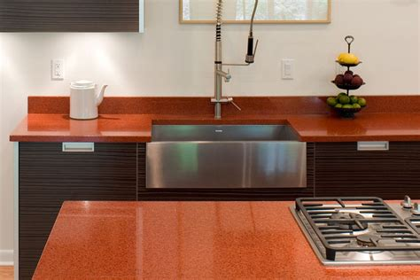 eco friendly kitchen countertops like recycled glass
