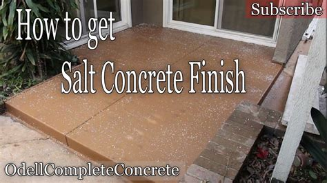 how to pour a concrete patio rock salt finish diy