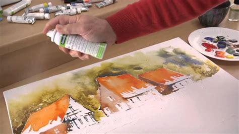 schmincke aquarellmalerei auf leinwand landschaft youtube