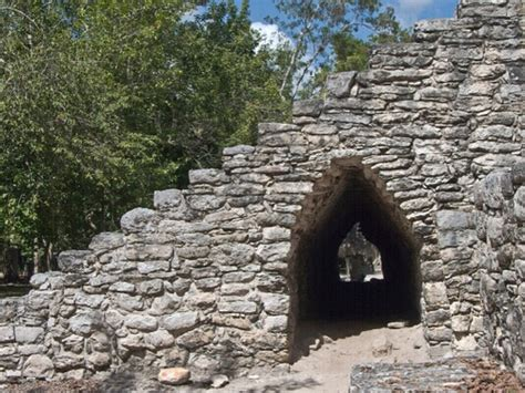 Corbelled Arch Passage In The Coba Group