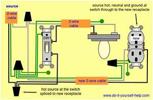 Wiring A Light Switch And Outlet Diagram