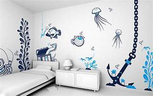 teens bedroom decorative wall painting designs for With wall art ideas for bedroom
