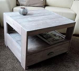 Table Avec Rangement : petite table salon avec tiroir de rangement version c ruse les ateliers du pom ~ Teatrodelosmanantiales.com Idées de Décoration