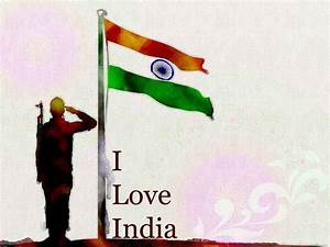 Soldier salute Indian flag on 15 august Independents day ...