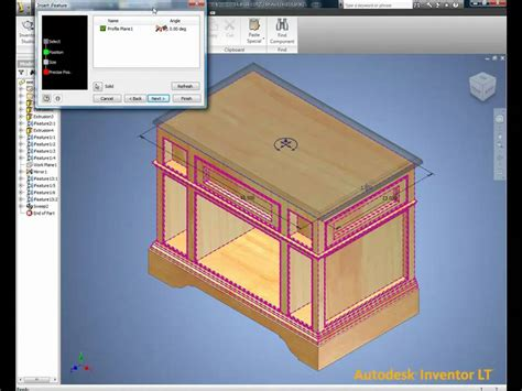 autodesk inventor lt wood furniture widomtech youtube