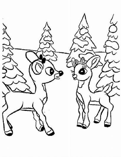 Coloring Rudolph Clarice Reindeer Nosed Books Disney