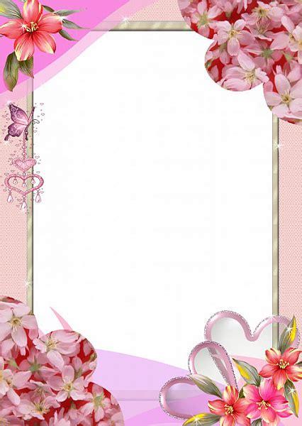 pink frame elegant frames boarders frames flower