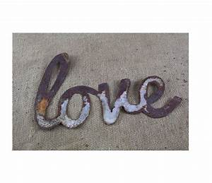 thin metal love rustic metal letters wall art With thin metal letters