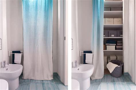 12 soluzioni con una tenda: cabina armadio lavanderia