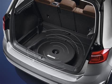000051419 spare tire mount subwoofer soundbox dsp genuine volkswagen accessory