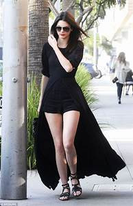 Kendall Jenner shows off some serious leg in an unusual ...