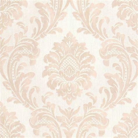 milano  damask wallpaper beige white wallpaper
