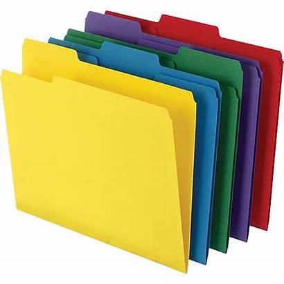 Folders Folder Letter Paper Filing Colored Tab