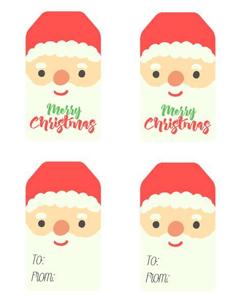printable santa claus tags  cottage market