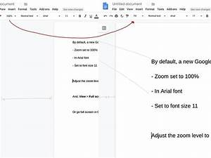 How To Make Text Display Larger In Google Docs