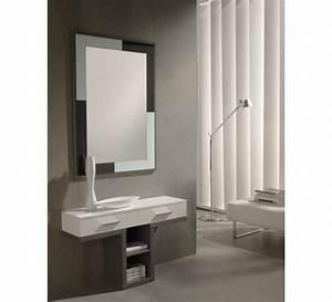 meuble d39entree console miroir 3478 With porte d entrée pvc avec grand meuble salle de bain