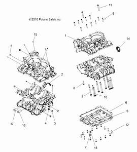 2011 Rzr-xp Engine Parts Drawings