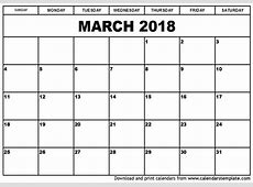 march 2018 calendar canada yearly printable calendar
