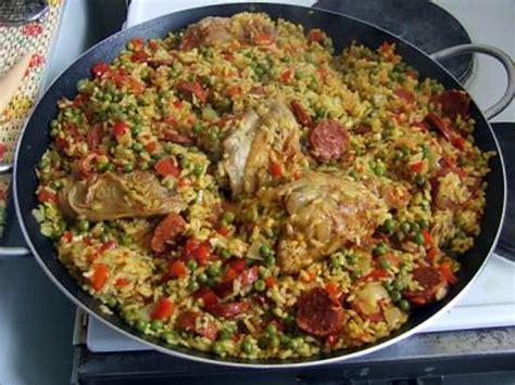 cuisine vapeur recettes recette de paella catalane poulet chorizo