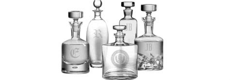 Personalized Whiskey Decanters & Barware