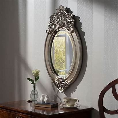 Mirror Oval Antique French Ornate Mirrors