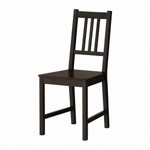 Chaise Noire Ikea : stefan chaise ikea ~ Teatrodelosmanantiales.com Idées de Décoration