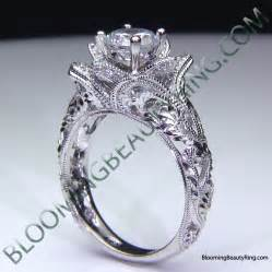 split wedding band blooming engagement ring collection unique engagement rings for by blooming