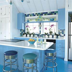 beach inspired kitchen ideas southern living With kitchen colors with white cabinets with roly poly candle holders