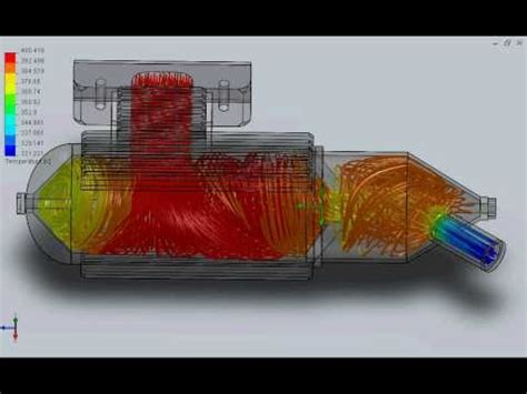 15 Cc 2stroke Exhaust (flow Simulation Temp)  Youtube