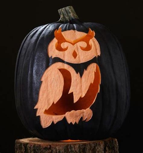 Owl Pumpkin Pattern Free 40 printable carving stencils for the best lookin pumpkin