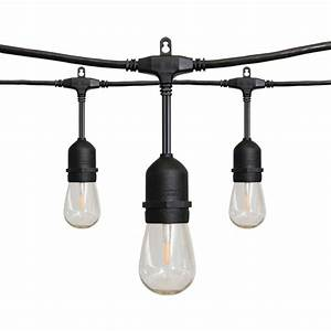 24 ft 12 light led string light 10295 the home depot With outdoor string lights with cable