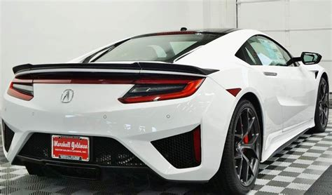 white on red 2017 acura nsx for sale