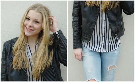 Bershka Riped Jacket 100k manon e mango faux leather jacket primark striped