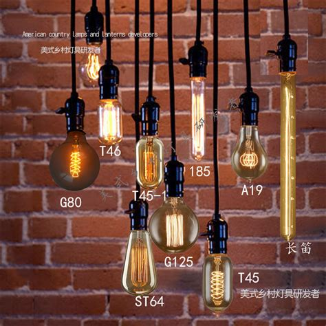 edison light bulb pendant light vintage nostalgia diy