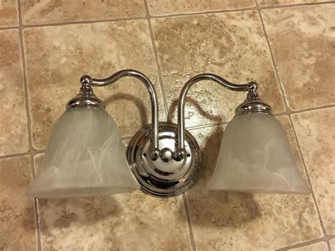 bathroom vanity light fixture silver  bulb bath room
