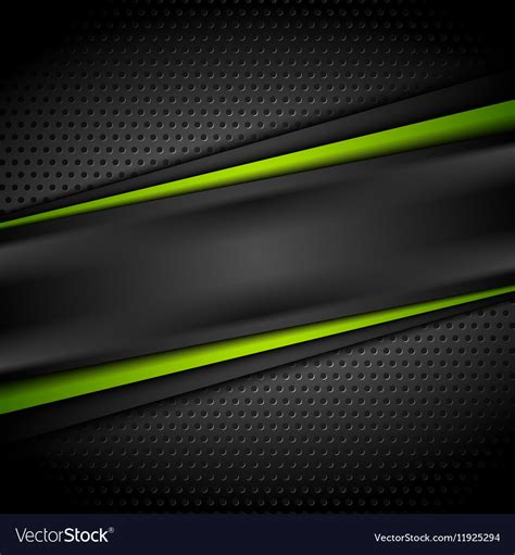 Abstract Black Green Background by Green Black Tech Abstract Background Vector Image