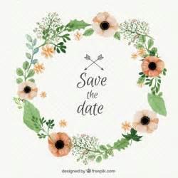 watercolor wedding floral wreath vector premium
