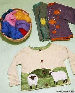 Needle-Felted Sweaters & Video Martha Stewart