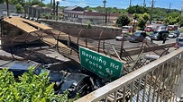Pedestrian bridge collapses onto DC highway, injuring ...